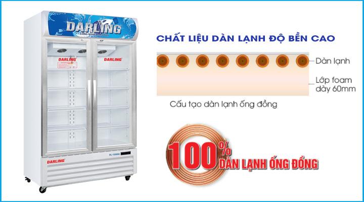Dàn lạnh Tủ mát Darling 2 cánh kính DL-12000A