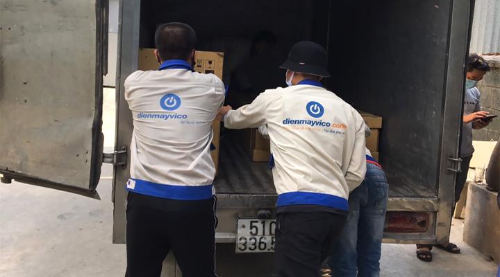 Đội ngũ vận chuyển hàng hóa nhiệt tình
