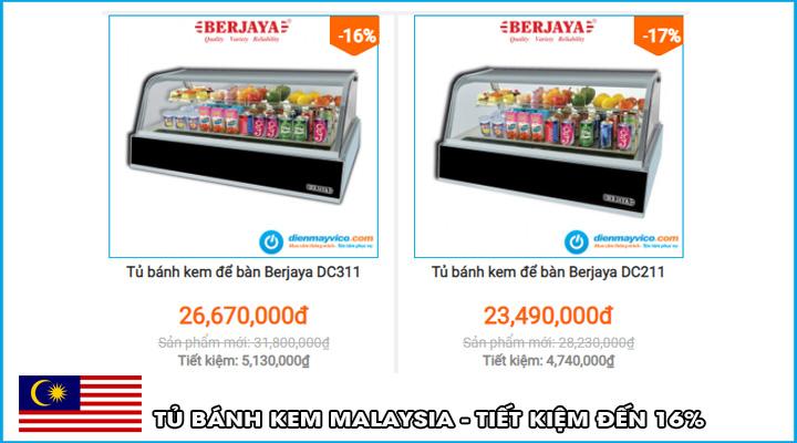 Giá tủ bánh kem mini Berjaya
