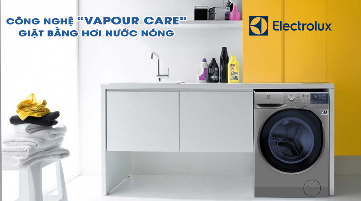 Giặt hơi nước Máy giặt Electrolux Inverter EWF8024ADSA 8 kg