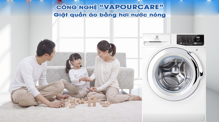 Giặt hơi nước Máy giặt Electrolux Inverter EWF8025BQWA 8 kg