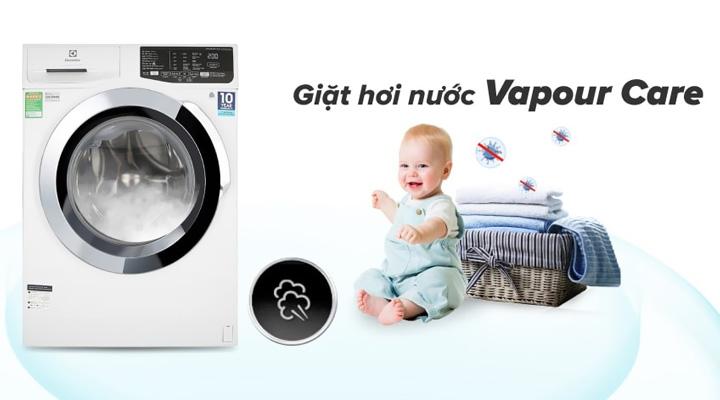 Giặt hơi nước Máy giặt Electrolux Inverter EWF9025BQWA 9 kg
