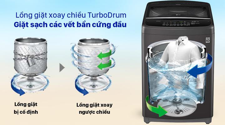 Giặt xoay Máy giặt LG Inverter T2555VSAB 15.5 Kg