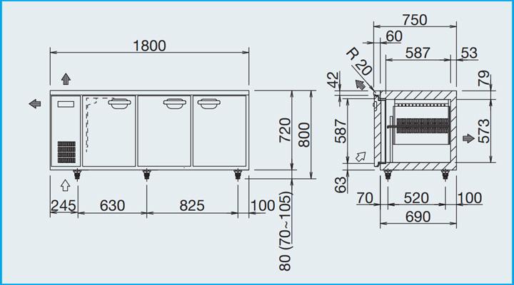 Hình mô tả Bàn đông Panasonic SUF-1871FC-E 1m8