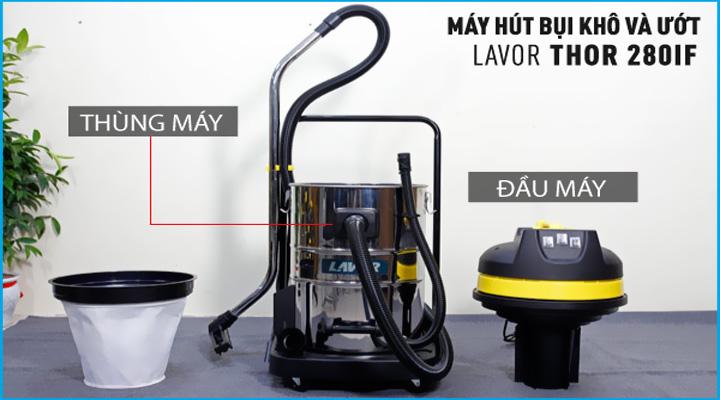 Hình mô tả Máy hút bụi khô và ướt Lavor THOR-280IF