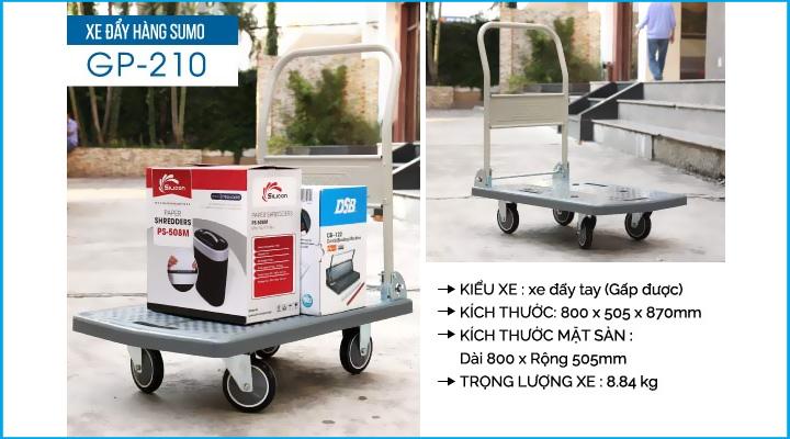 Hình mô tả xe đẩy hàng Sumo GP-210