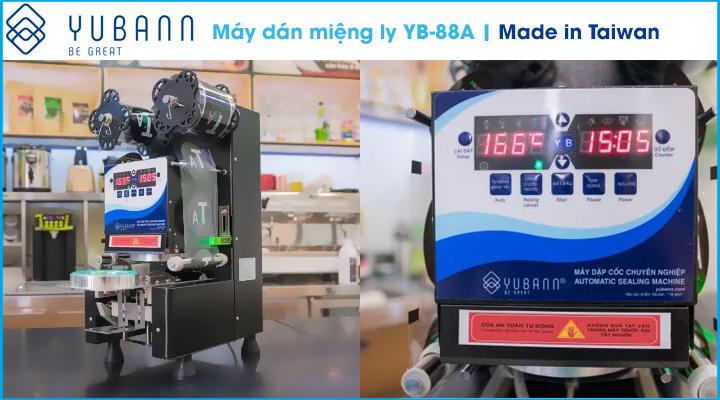 Hình nội dung Máy dán miệng ly Yubann YB-88A