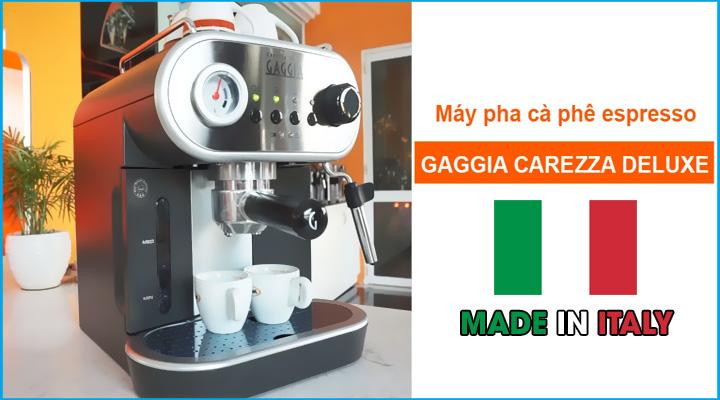 Hình nội dung Máy pha cà phê Gaggia Carezza Deluxe