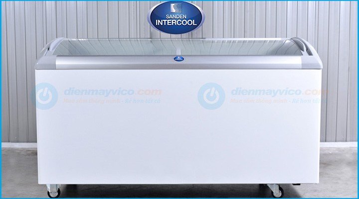 Hình nội dung Tủ đông kính cong Sanden Intercool SNC-0435