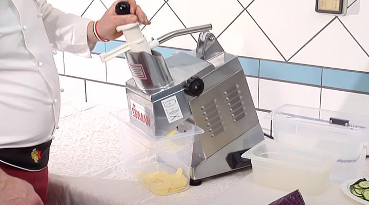 Hình thực tế Máy cắt rau củ quả Sirman TM INOX