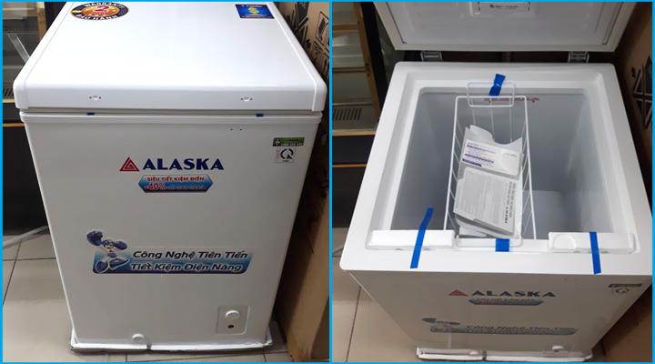 Hình thực tế tủ đông Alaska BD-150