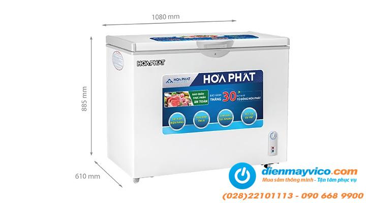 Kích thước Tủ đông Funiki Hòa Phát HCF 516S1N1 252 lít