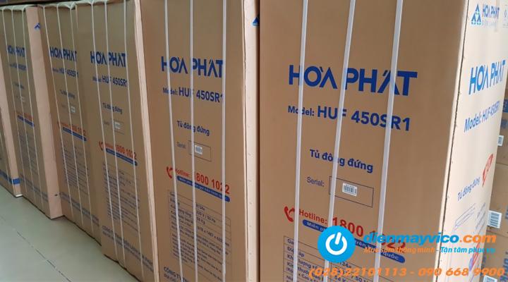 Kiện hàng Tủ đông đứng Funiki Hòa Phát HUF 450 SR1 208 lít