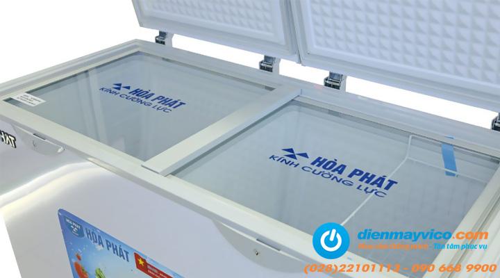 Kính lùa Tủ đông mát Funiki Hòa Phát HCFI 606S2Đ2 Inverter 245 lít