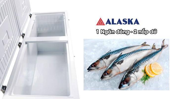 Lòng tủ đông nắp dỡ Alaska Inverter HB-650CI 518 lít
