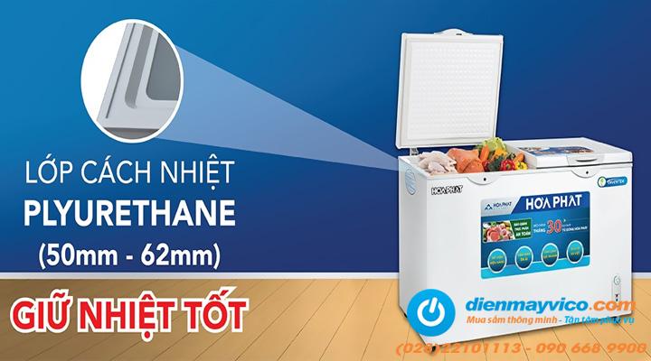 Lớp cách nhiệt Tủ đông mát Funiki Hòa Phát HCFI 606S2Đ2 Inverter 245 lít