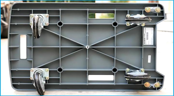 Mặt dưới xe đẩy hàng Sumo GP-210