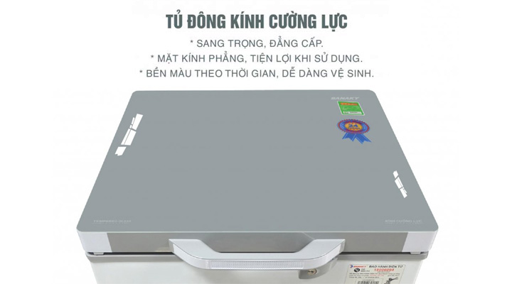 Mặt kính Tủ đông kính cường lực Sanaky VH-1599HYK 100 lít