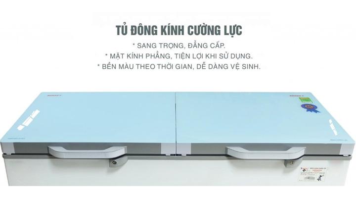 Mặt kính Tủ đông mát kính cường lực Sanaky VH-4099W2KD 300 lít