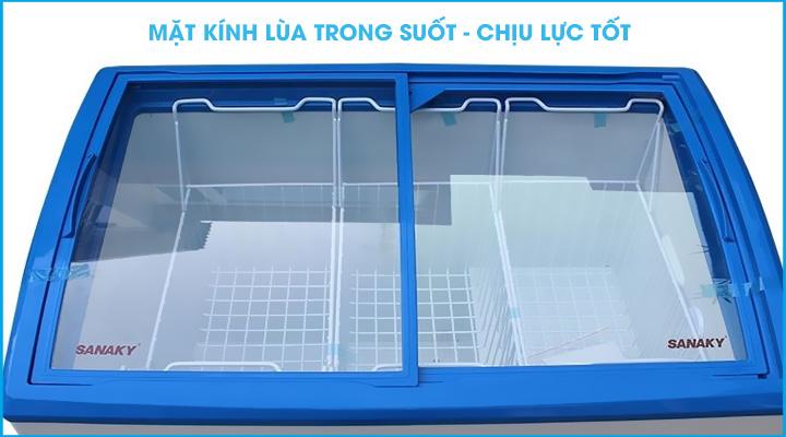 Mặt kính Tủ đông kính cong Sanaky VH-3899K