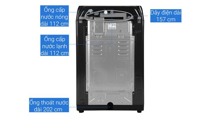 Mặt lưng Máy giặt Samsung Inverter WA22R8870GV/SV 22kg
