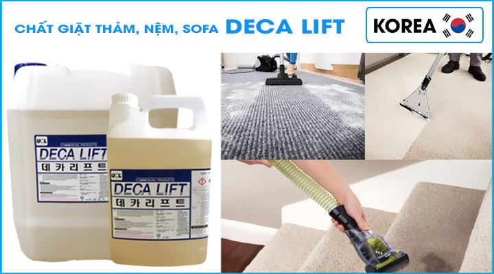 Hóa chất giặt tẩy thảm, nệm, sofa công nghệ Korea