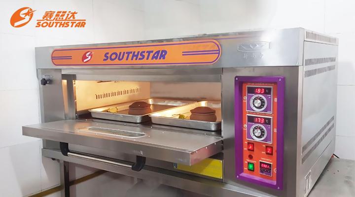 Mô tả Lò nướng bánh 1 tầng 2 khay Southstar dùng gas
