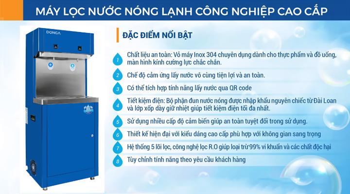 Mô tả Máy lọc nước uống 2 vòi cao cấp DONGA DAD-2L