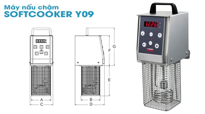 Mô tả Máy nấu chậm Sirman SOFTCOOKER Y09