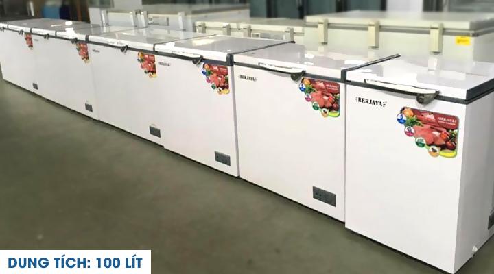 Mô tả Tủ đông nắp đậy Berjaya BJY-CFSD100A-R6 100 lít