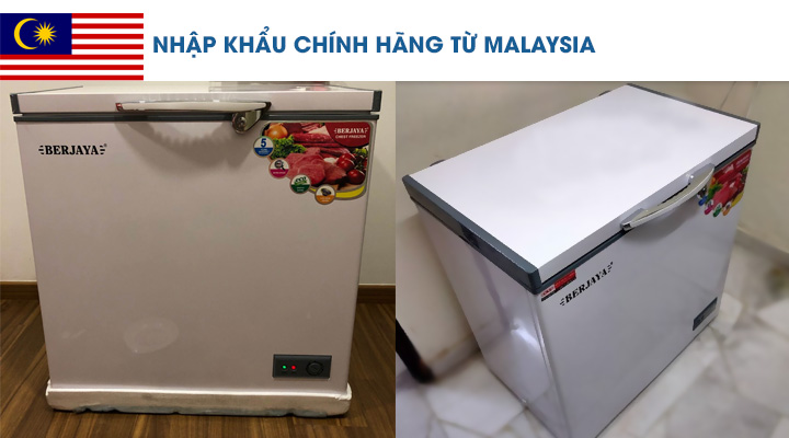 Mô tả Tủ đông nắp đậy Berjaya BJY-CFSD200A-R6 150 lít