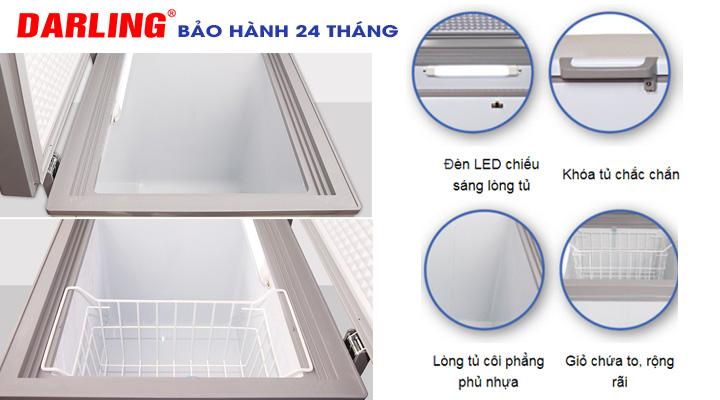 Mô tả Tủ đông Darling DMF-3799AS