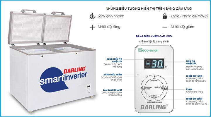 Mô tả Tủ đông Darling DMF-3799ASI
