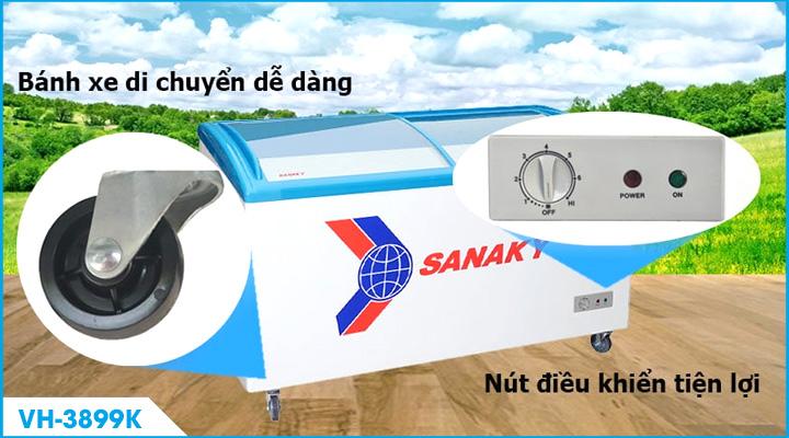 Mô tả Tủ đông kính cong Sanaky VH-3899K