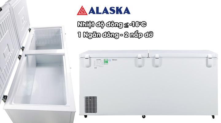 Mô tả Tủ đông nắp dỡ Alaska Inverter HB-1200CI 1015 lít