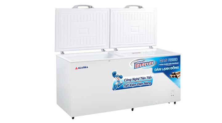Mô tả Tủ đông nắp dỡ Alaska Inverter HB-650CI 518 lít