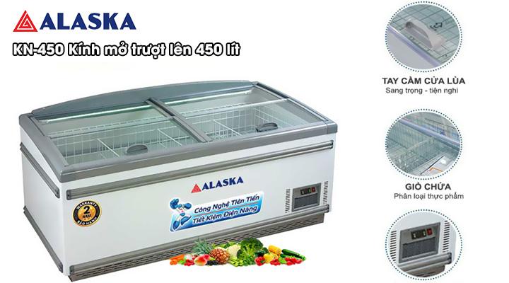Mô tả Tủ đông trưng bày mặt kính Alaka KN-450 450 lít