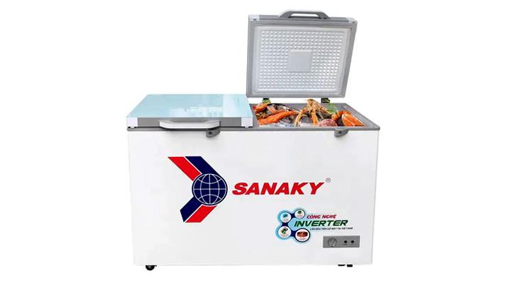 Tủ đông kính phẳng Sanaky Inverter VH-3699A4KD 270 lít