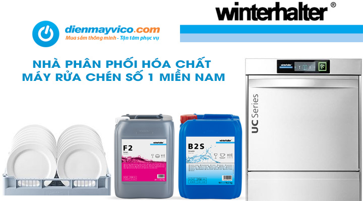 Nhà phân phối hóa chất máy rửa chén Winterhalter