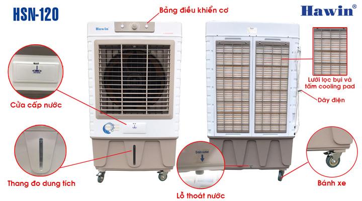 Nội dung Quạt làm mát hơi nước Hawin HSN-120