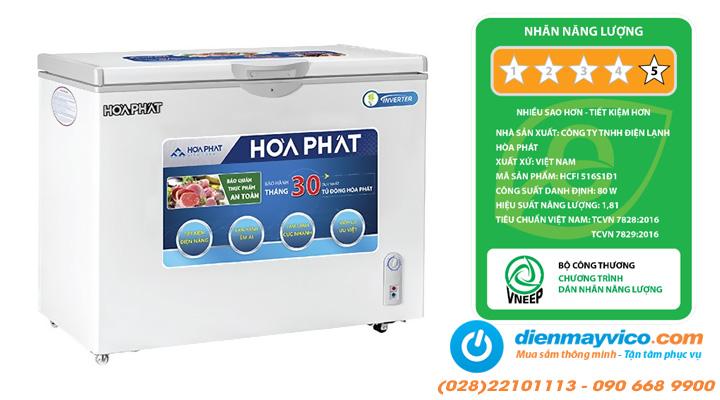 Nội dung Tủ đông Funiki Hòa Phát HCFI 516S1Đ1 Inverter 252 lít