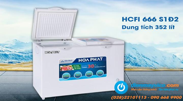 Tủ đông Funiki Hòa Phát HCFI 666S1Đ2 Inverter 352 lít