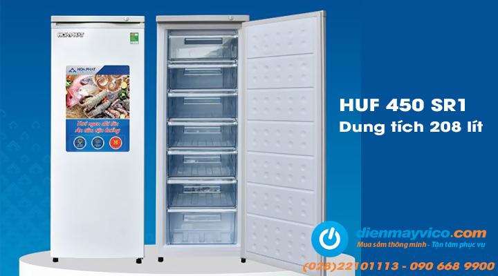 Tủ đông đứng Funiki Hòa Phát HUF 450 SR1 208 lít