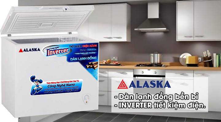 Tủ đông nắp dỡ Alaska Inverter BD-400CI 295 lít