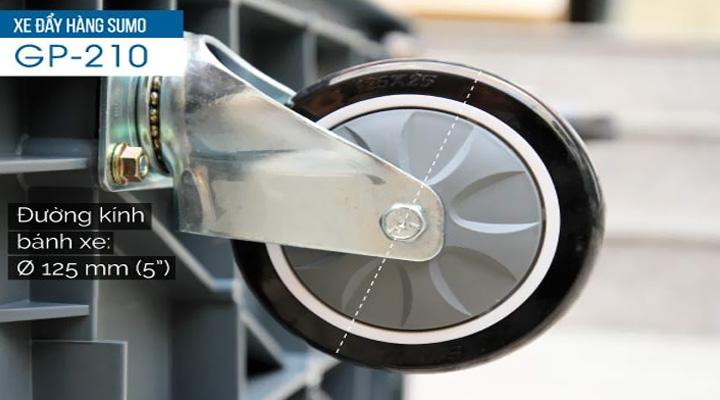 Ảnh bánh xe của xe đẩy hàng GP-210