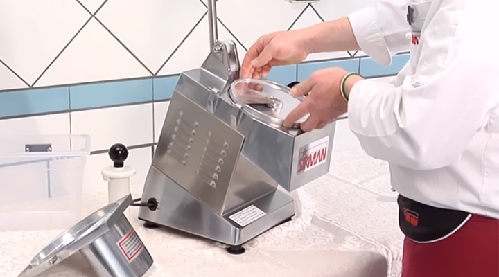Tháo lắp Máy cắt rau củ quả Sirman TM INOX