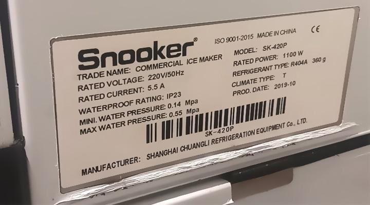 Thông số Máy làm đá viên Snooker SK-420P 191kg/ngày