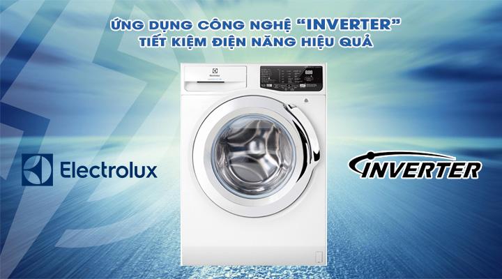 Tiết kiệm điện Máy giặt Electrolux Inverter EWF8025BQWA 8 kg