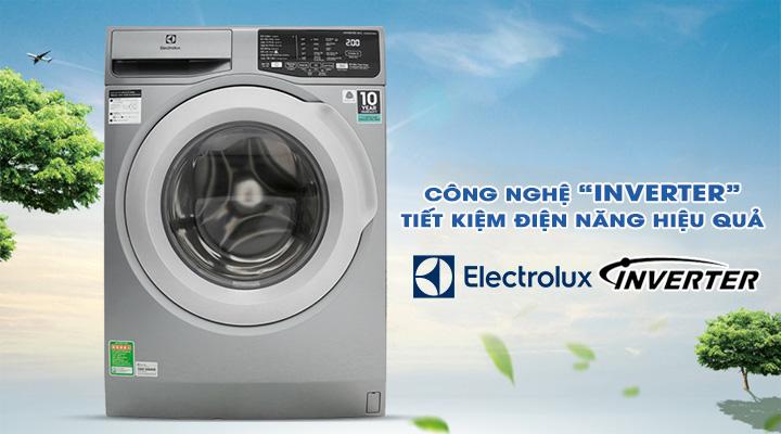 Tiết kiệm điện Máy giặt Electrolux Inverter EWF8025CQSA 8 kg
