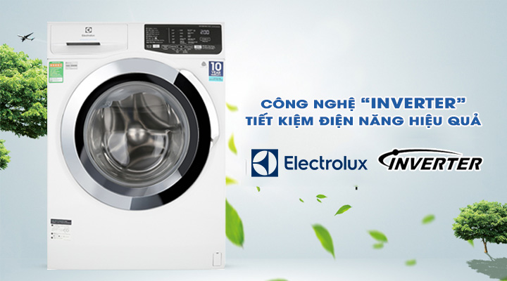 Tiết kiệm điện Máy giặt Electrolux Inverter EWF9025BQWA 9 kg